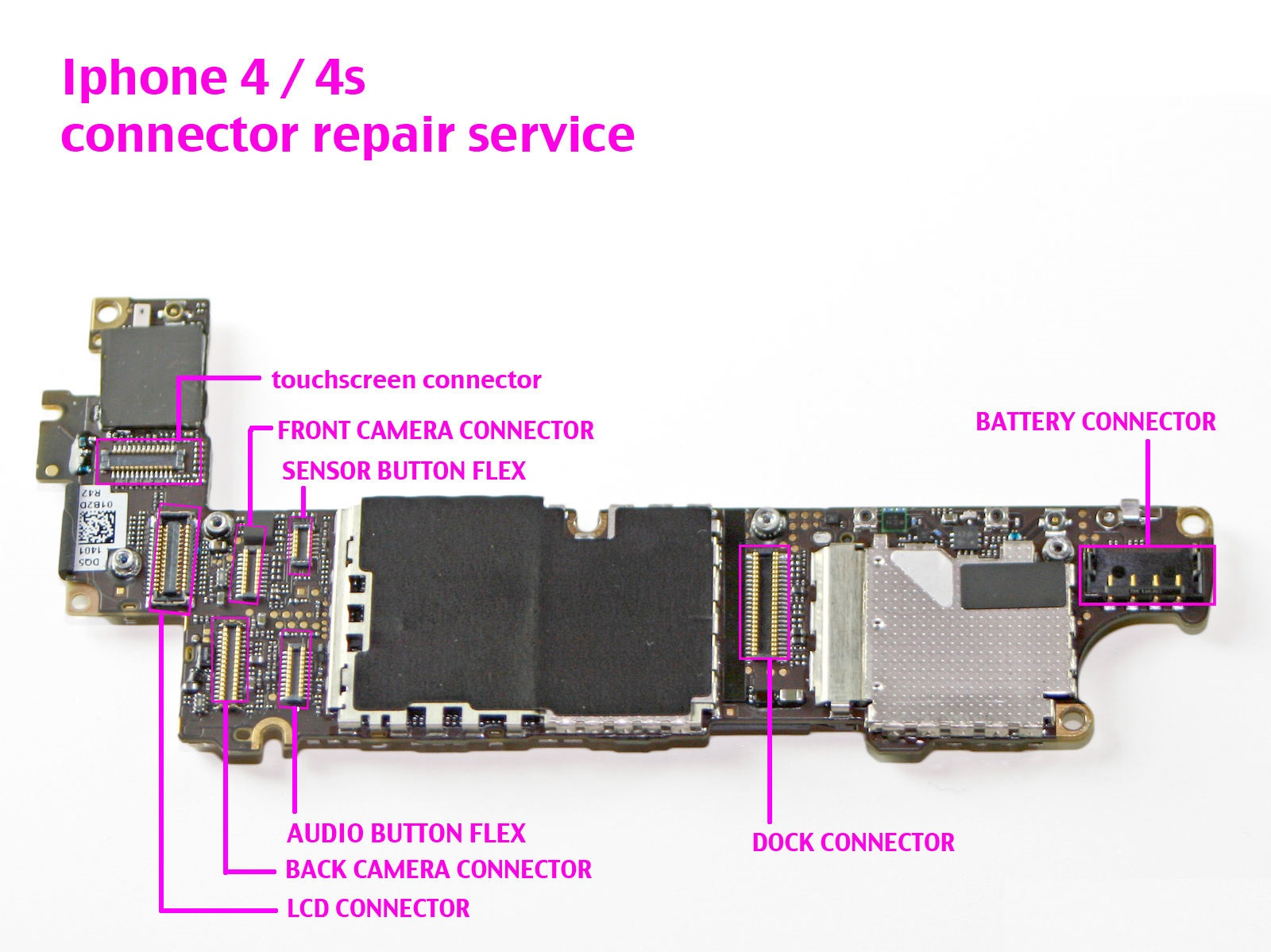 iphone 4 repair iphone 4 4s any fpc connectors repair service replacement 10874