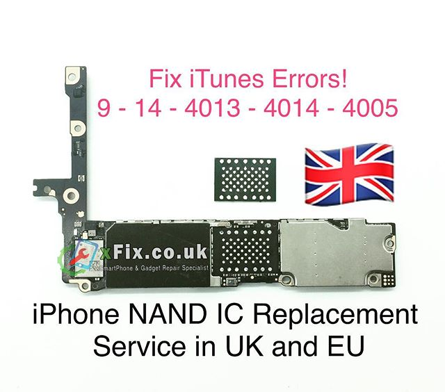 Fix iPhone 5s,6,6plus,6s,6splus iTunes errors 4-14-4013-4014-4005 service in UK and EU.