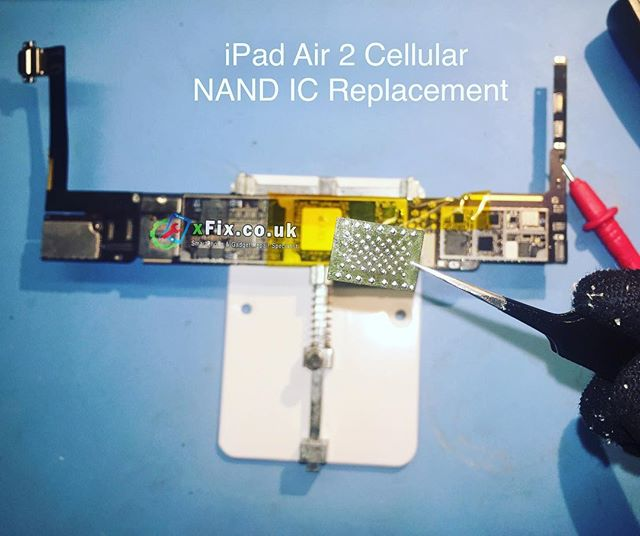 iPad Air 2 Cellular NAND IC Replacement UK. @d64321