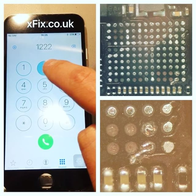 Repairing iPhone 6 Touch IC with Damaged Pads
