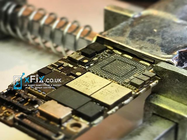 "Reballing iPhone 6 Baseband CPU to fix ""Modem Firmware"""