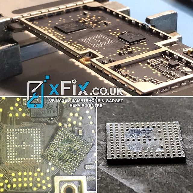 Reballing an iPad 4 Touch IC BCM5973A1 to fix the touch screen issues