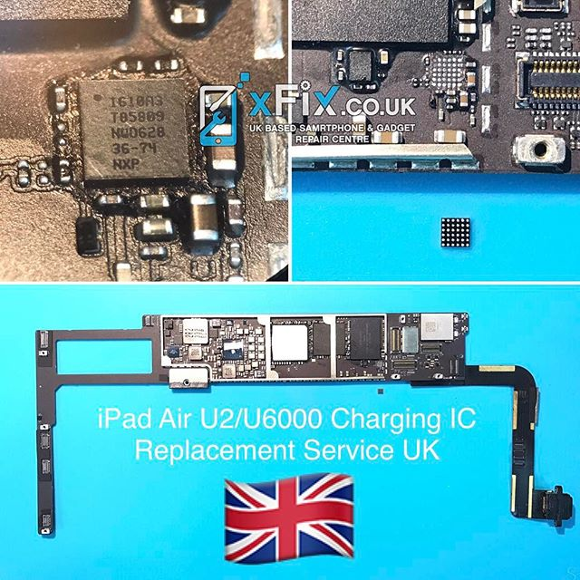iPad Air U6000(U2) Charging IC Controller Replacement Service . For book your repairs contact us: ️Email: info@xfix.co.uk ️Tel : +44-7507711117 . #xfix.co.uk #