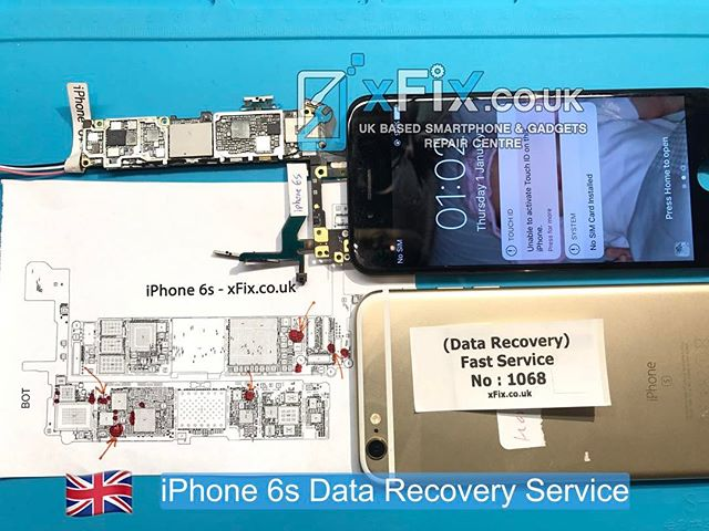Water Damaged iPhone 6s has repaired for Data Recovery purpose