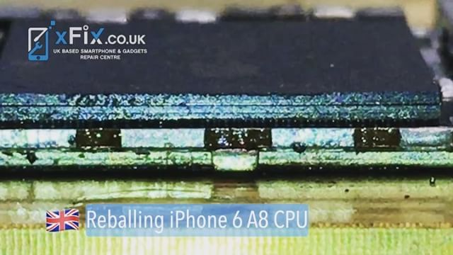 Reballing iPhone 6 CPU