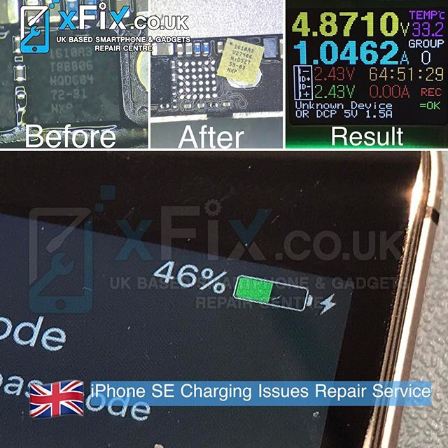 iPhone SE with Charging Issues has been Repaired After U2/U4500 Replacement . For book your repairs please contact us: ️Email: info@xfix.co.uk ️Tel : +44-7507711117 🌎 Web: www.xFix.co.uk .