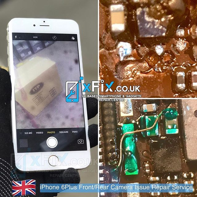 Repairing a Water damaged iPhone 6plus with Front/Back Camera issues .