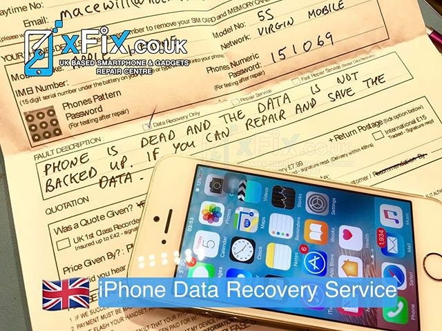 Dead iPhone 5s has repaired for Data Recovery purpose . For book your repairs please contact us: ️Email: info@xfix.co.uk ️Tel : +44-7507711117 .