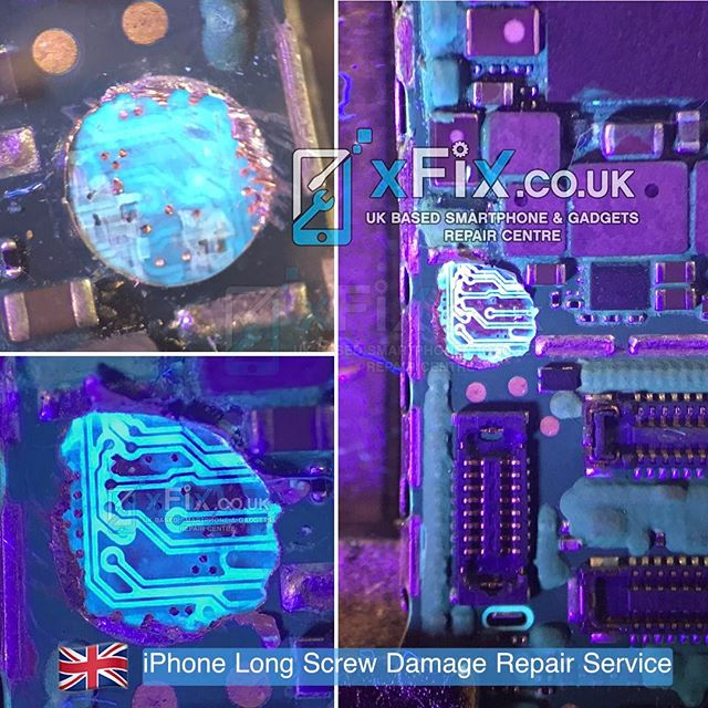 size 40 de50e 97f03 Repairing an iPhone 6 Plus with Long screw damage and No Display - xFix