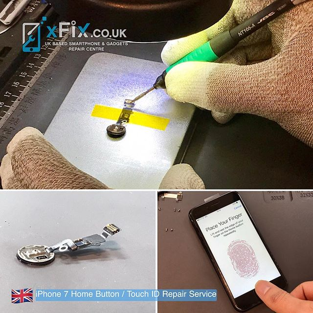Repairing an iPhone 7 Home Button with Touch ID issue. . For book your repairs please contact us: ️Email: info@xfix.co.uk ️Tel : +44-1642688858 🌎 Web: www.xFix.co.uk . @jbc_soldering_tools