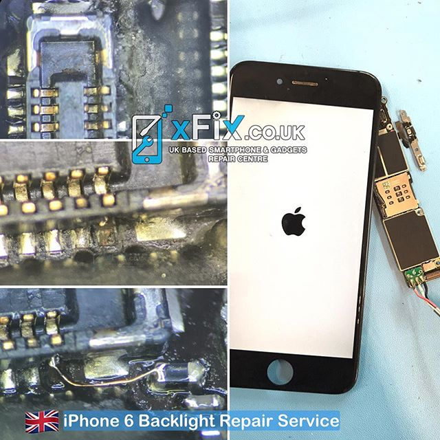 Repairing a Water Damaged iPhone 6 with No Backlight .