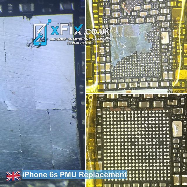 iPhone 6s Smashed PMU IC Replacement .