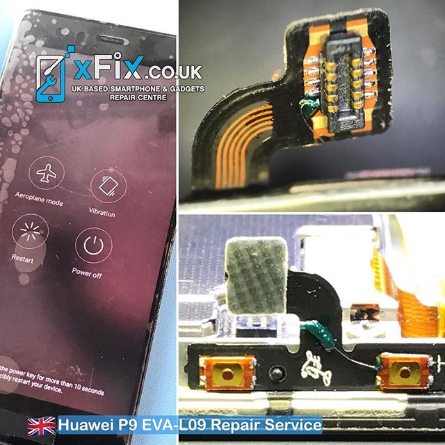Repairing a Huawei P9 EVA-L09 with broken Power Flex and Volume Button. . #EVA-L09