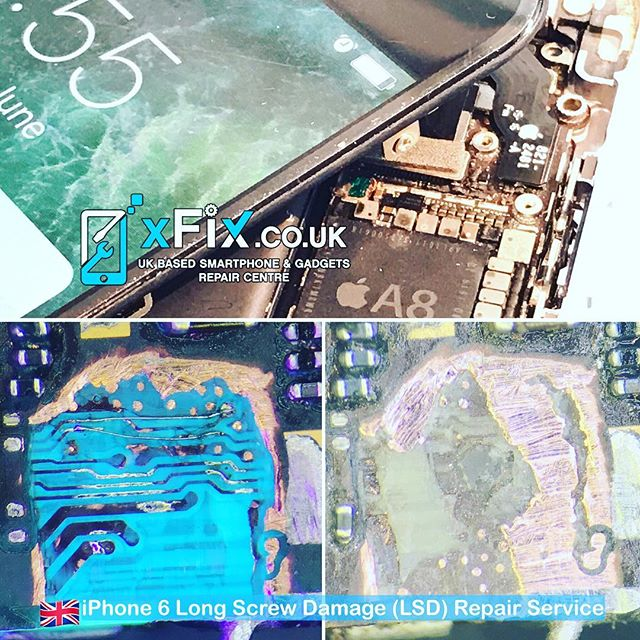 Emergency iPhone 6 Repair with Long screw damage for local trade customer. .