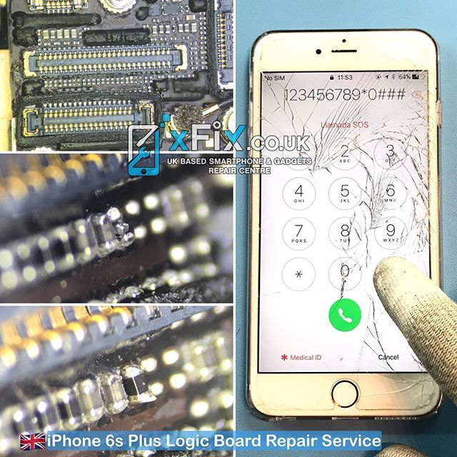 Repairing an iPhone 6s Plus with Broken Filter in (spi_ap_to_touch_sclk) Line .