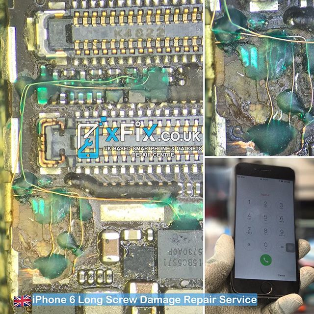 Repairing a Long Screw Damaged on iPhone 6 after failed attempt by Another Technician .