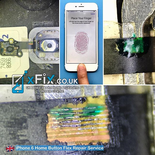 Repairing iPhone 6 Home Button with a Broken Flex Cable and Touch ID Issue .