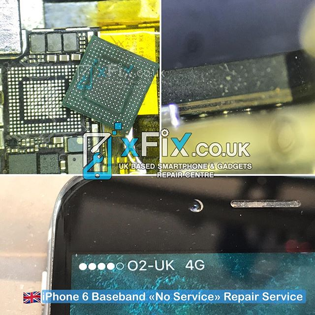 Apple iPhone 6 No service/ Searching fixed by Reballing the Baseband IC. .