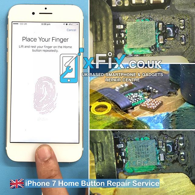 Replacing iPhone 7 U10/Fingerprint IC after a client had broken the U10 IC for the second time .