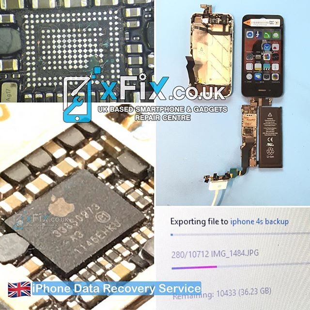 Recovering 36GB Data and Pictures From the Dead iPhone 4s with PMU Issues Sent from Portugal .