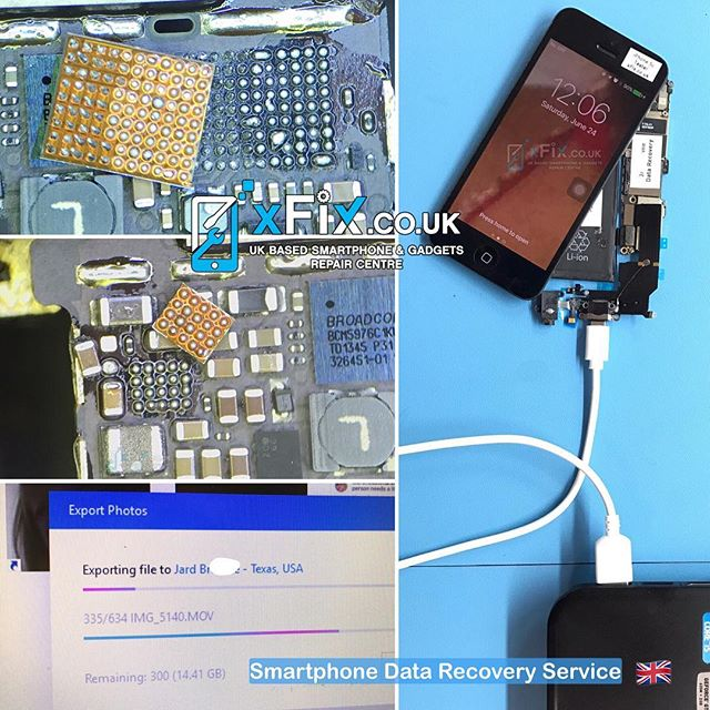 Recovering 14GB Data From Faulty iPhone 5c with Display Issues Sent from Texas, USA