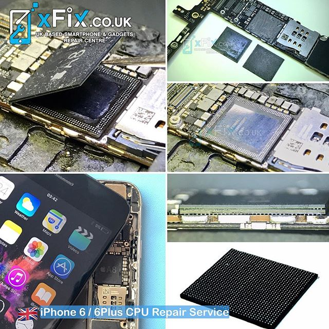 Reballing iPhone 6 Plus A8 CPU and RAM .