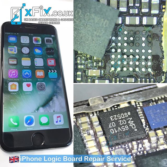 Reballing iPhone 6 NFC IC U5302_RF and Fix the Broken Solder Pads .