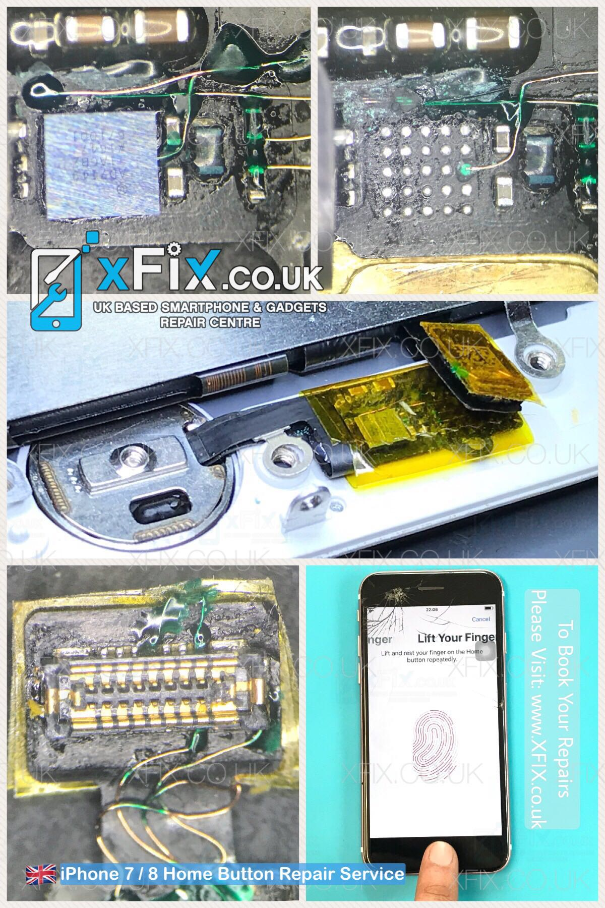 quality design 2a20c 1a005 iphone 7 - touch id-home button repair - xFix